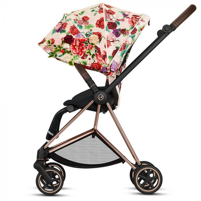Cybex Mios Pram Inc Lux Carrycot Spring Blossom Light Left Min