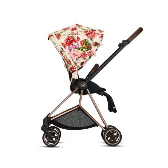 Strollers Cybex Beige Cybex Mios Stroller Set Spring Blossom And Light Rose Gold Frame 112752 30256