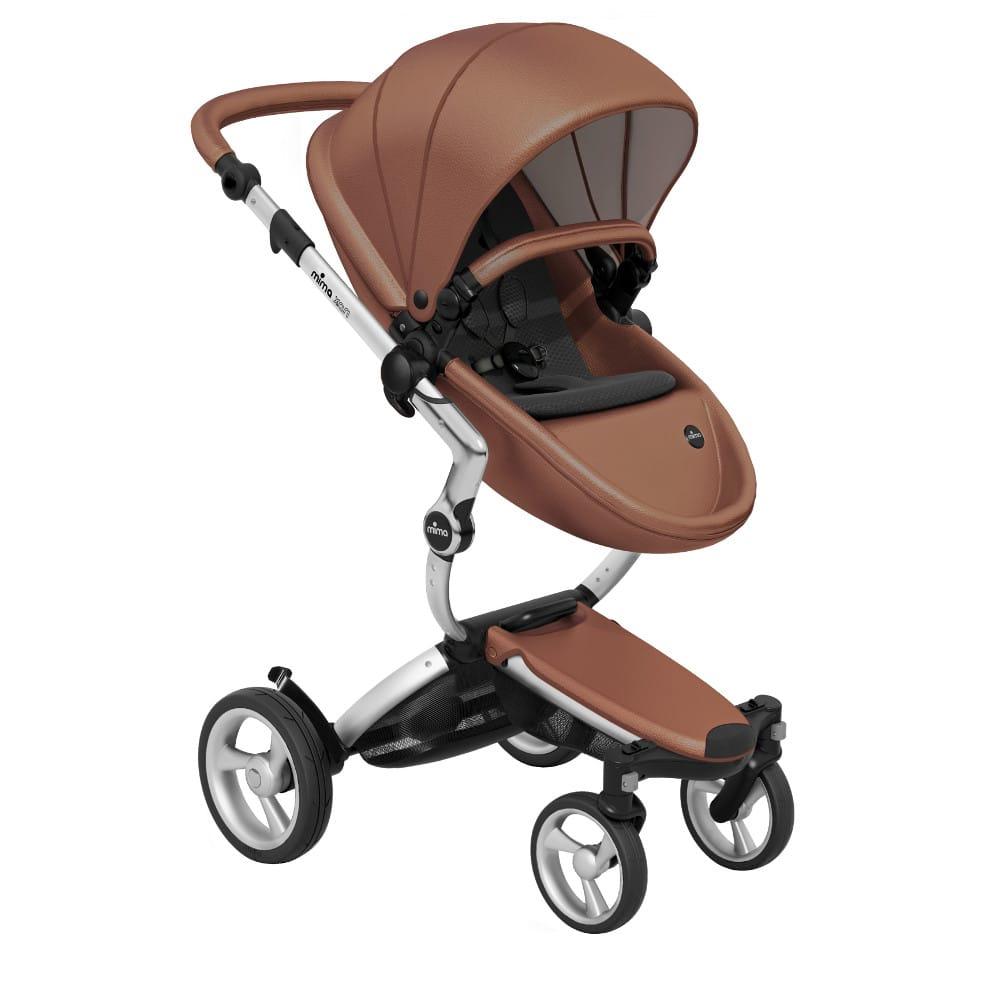 Mima Xari Stroller Camel Seat – Aluminium Chassis – Black Cushion