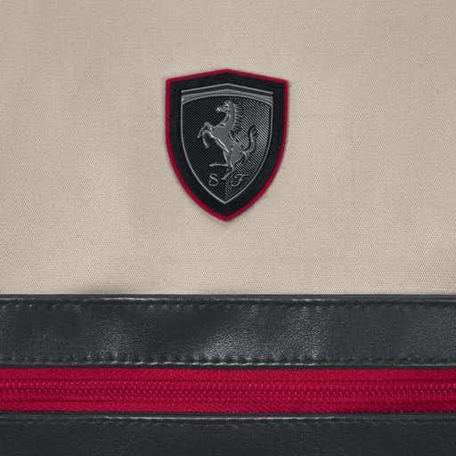 The Baby Room Cybex Scuderia Ferrari Changing Bag Silver Grey Logo