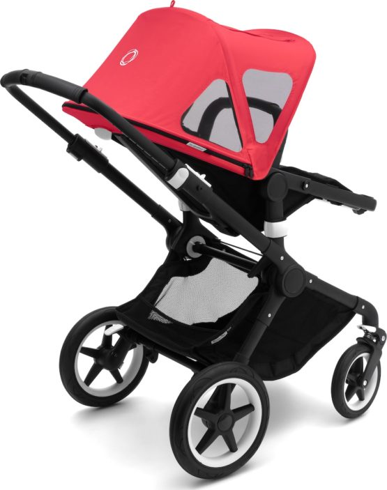 20180615151806 Bugaboo Fox And Cameleon 3 Breezy Sun Canopy Neon Red