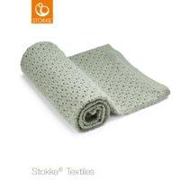 Stokke® Merino μάλλινη κουβέρτα Green 80x80cm