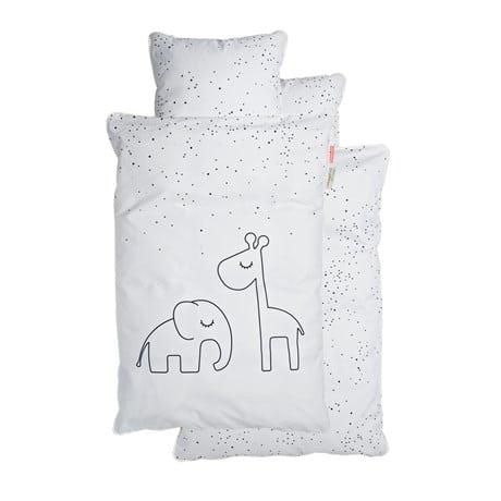 DONE BY DEER Duvet & amp; Pillowcase Set Dreamy Dots White