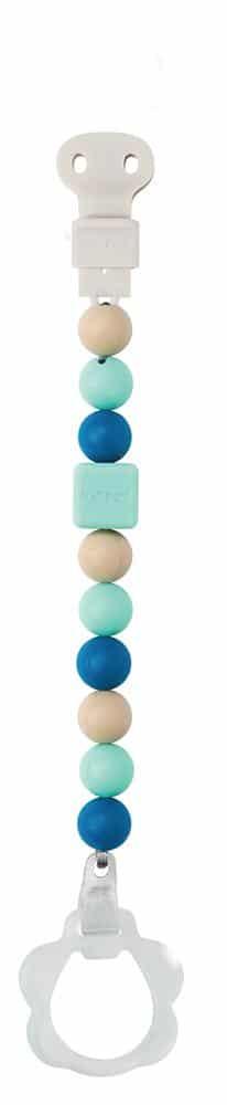Nattou LAPIDOU. Κλιπ πιπίλας – μασητικό (μπλε-γαλάζιο-μπεζ)