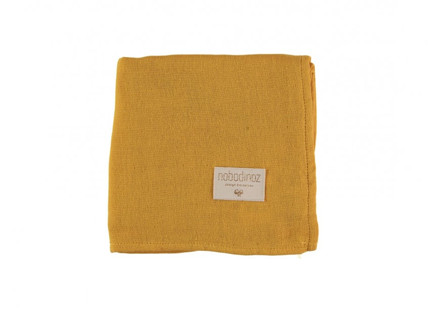 Baby Love Swaddles Lange Muselinas Farniente Yellow Nobodinoz 2 1 1