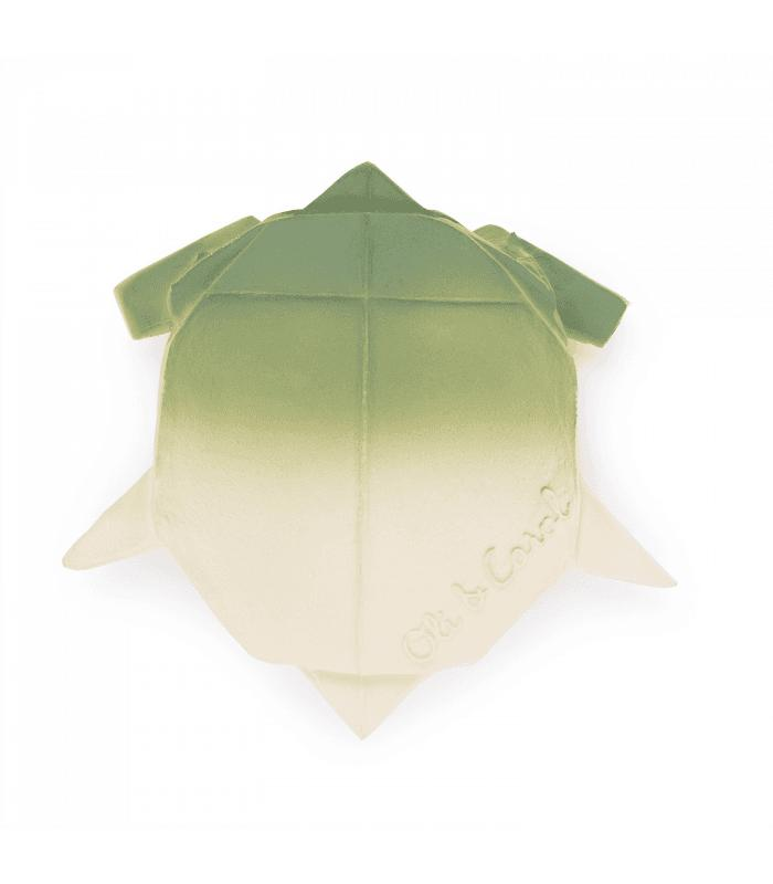OLI & CAROL. Natural Rubber Chewable Toy – Origami Turtle