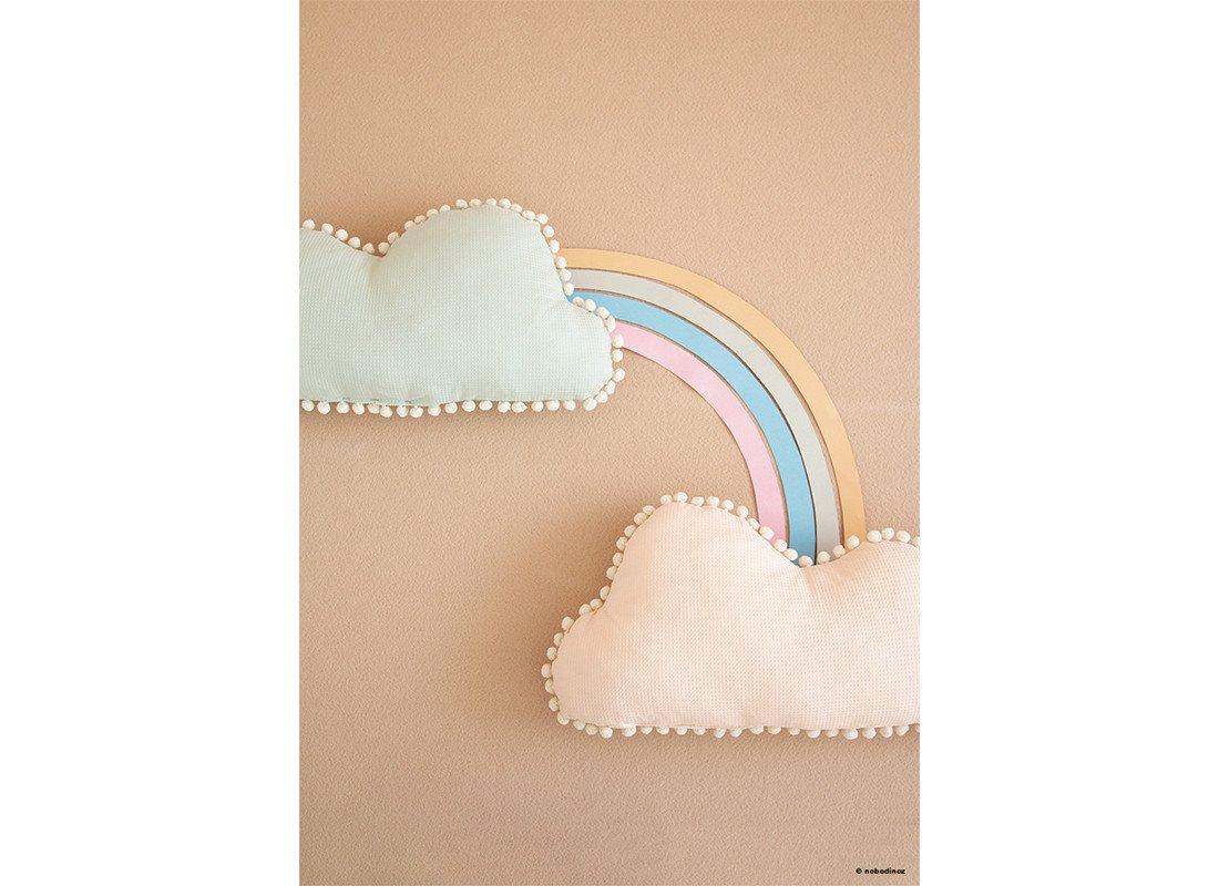 Mood Nobodinoz Marshmallow Cloud Cushion Aqua Dream Pink H