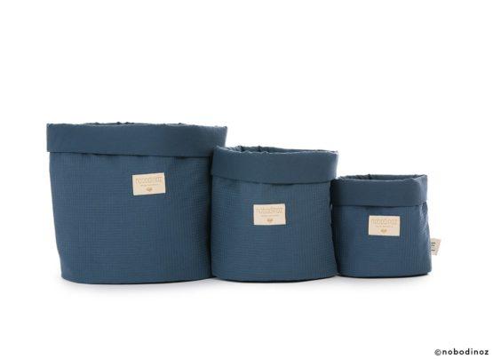 Panda Basket Panier Cesta Combinaison Night Blue Honeycomb Nobodinoz 3 1c0d1e71 02d7 4c43 9b7a 5045fdb8e133