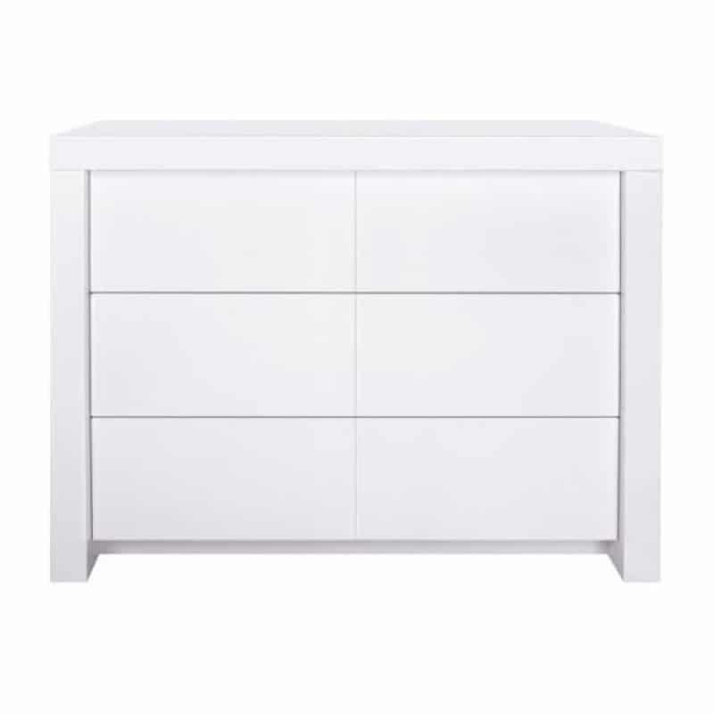 Kidsmill Συρταριέρα 3 συρτάρια Diamond White Matt