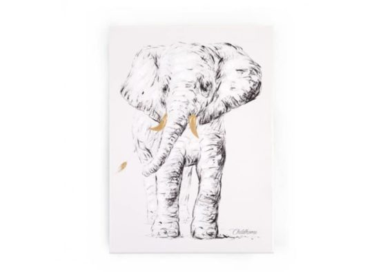 CHILDHOME Κάδρο Ελέφαντας Gold