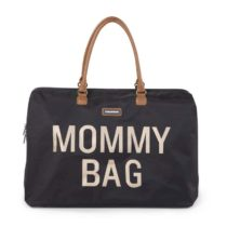 CHILDHOME Τσάντα Αλλαγής Mommy Bag Big Black Gold