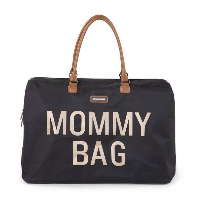 CHILDHOME Τσάντα Αλλαγής Mommy Bag Big Black Gold