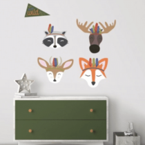 "ROOMMATES Αυτοκόλλητα Τοίχου μεγάλο ""Ζώα του Δάσους"""