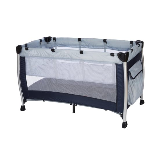 BABY ADVENTURE Παρκοκρέβατο 2 Θέσεων HOLIDAY ALUMINIUM Grey Navy