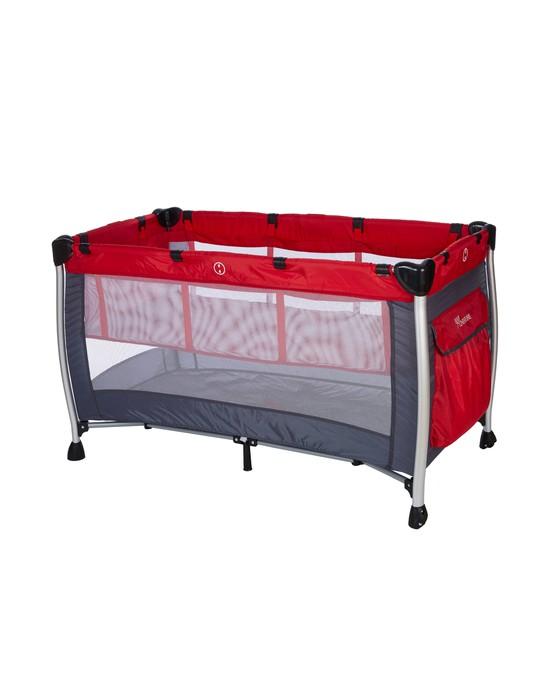 BABY ADVENTURE Παρκοκρέβατο 2 Θέσεων HOLIDAY ALUMINIUM 60*120cm Red / Grey
