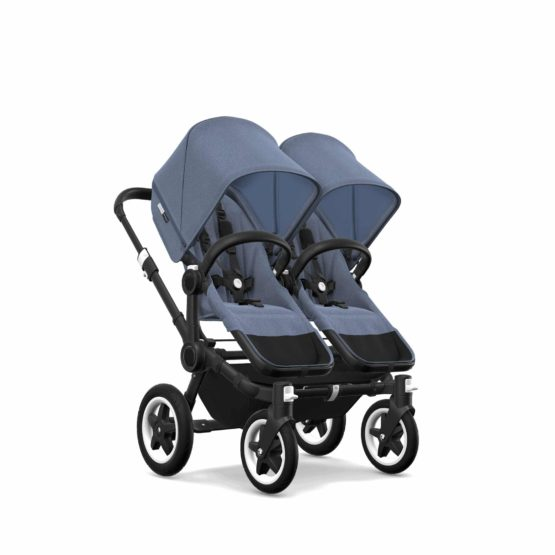Bugaboo Donkey2 Twin Chassis Black Seat Bm Sun Canopy Bm