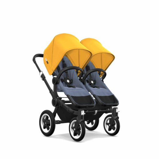 Bugaboo Donkey2 Twin Chassis Black Seat Bm Sun Canopy Sy