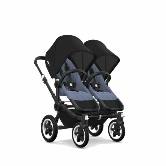 Bugaboo Donkey2 Twin Chassis Black Seat Bm Sun Canopy Zw
