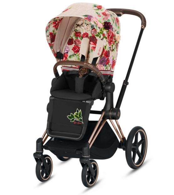 "Cybex Καρότσι e-PRIAM Frame Rosegold – Seat Spring Blossom Light <span class=""soon"">(Coming Soon)</span>"