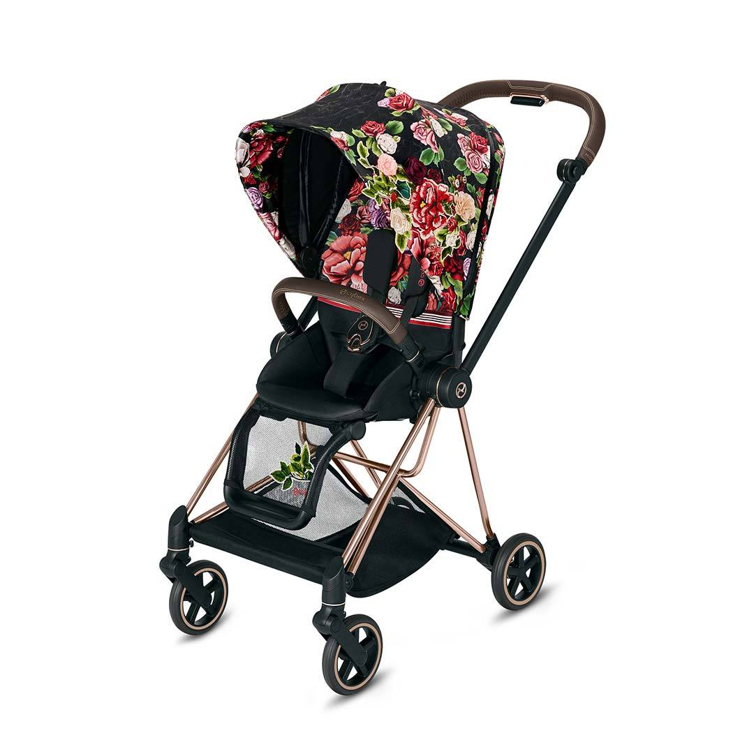 Cybex Καρότσι Mios Frame Rosegold – Seat Spring Blossom Dark