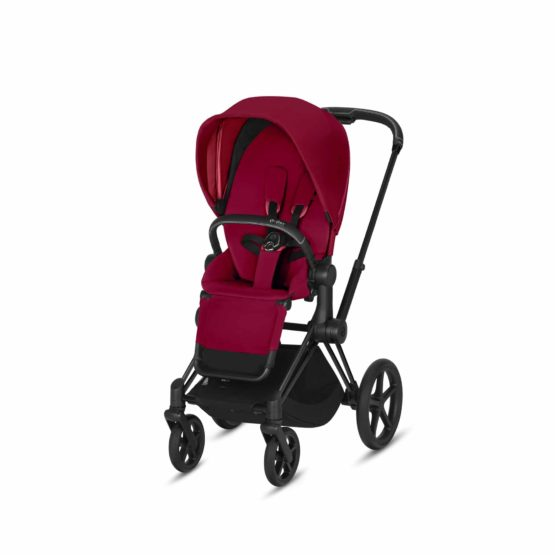 "Cybex Καρότσι e-PRIAM Frame Matt Black – Seat True Red <span class=""soon"">(Coming Soon)</span>"