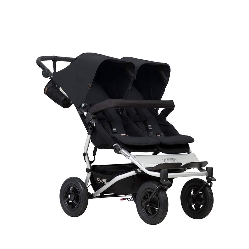 Mountain buggy® Duet παιδικό καρότσι για δύο παιδιά Black