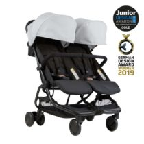 Mountain buggy® Duo παιδικό καρότσι για δίδυμα Silver
