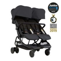 Mountain buggy® Duo παιδικό καρότσι για δίδυμα Black