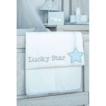 Baby Oliver Κουβέρτα Πικέ 100x140 Lucky Star Blue des.309