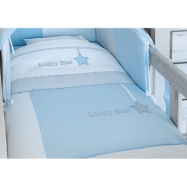 Baby Oliver Σετ Σεντόνια 3 Τεμ Lucky Star Blue des.309
