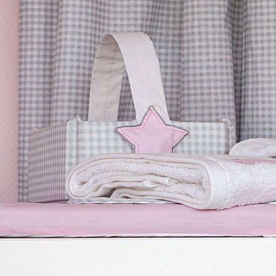 Baby Oliver Καλαθάκι Καλλυντικών Lucky Star Pink Des.308