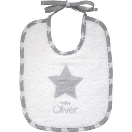 Baby Oliver Σαλιάρα 20×25 cm My little superstar des.301