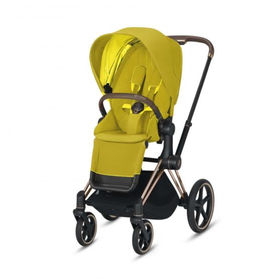 "Cybex Καρότσι Priam Frame Rosegold – Seat Mustard Yellow ""Platinum Collection"""