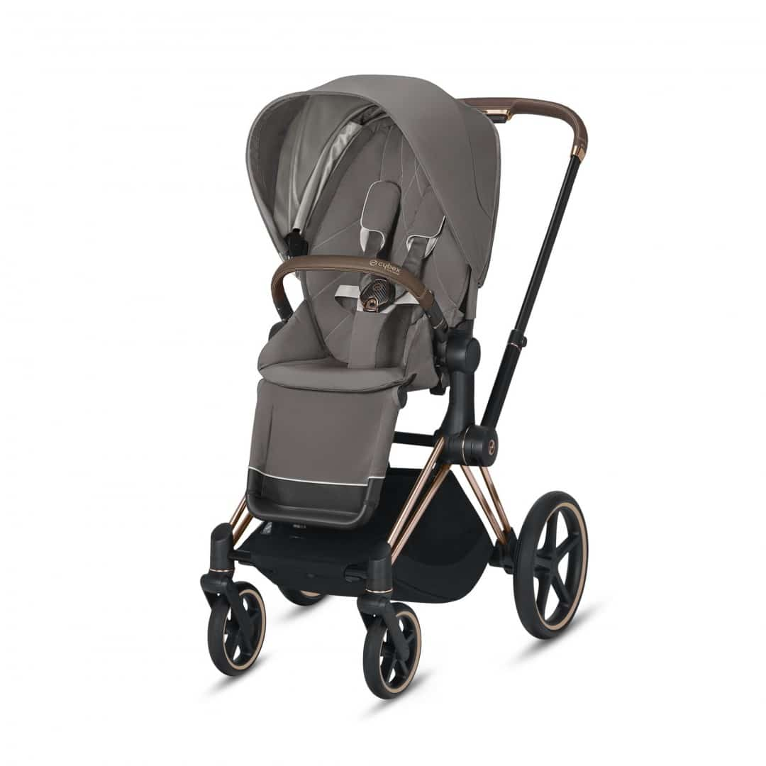 "Cybex Καρότσι Priam Frame Rosegold – Seat Soho Grey ""Platinum Collection"""