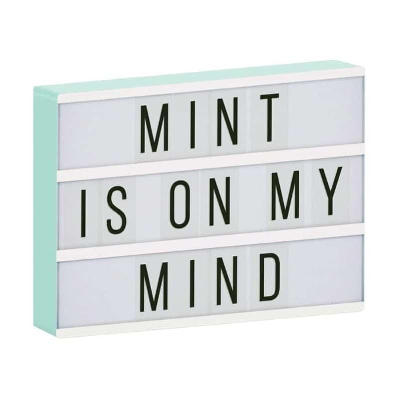 A little lovely company: Φωτειζόμενος πίνακας- Lightbox Mint