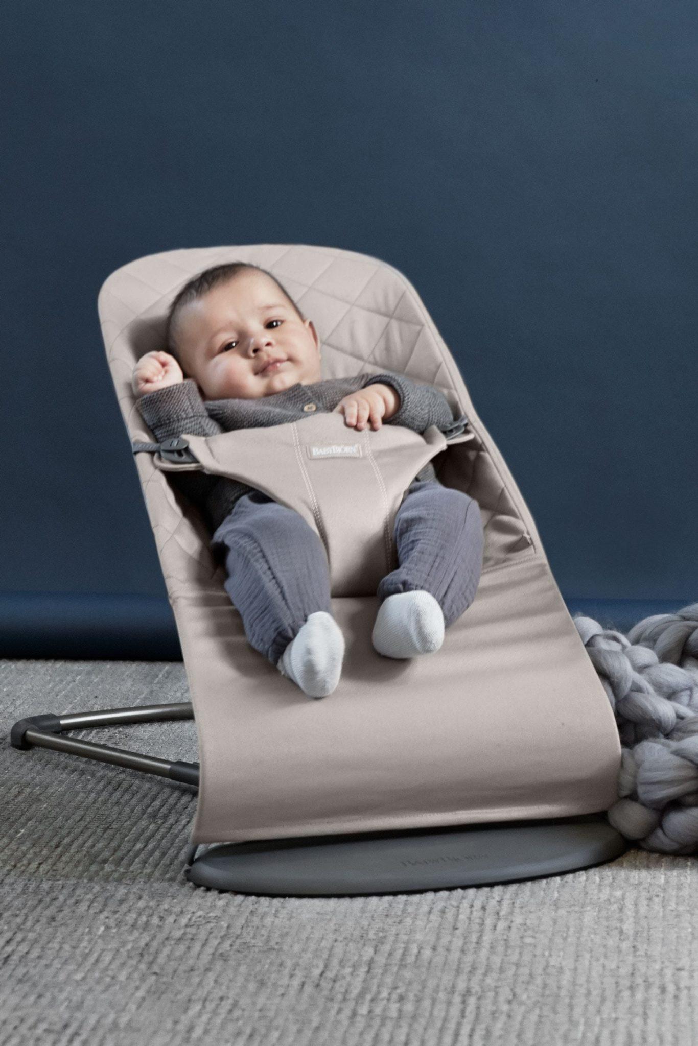 Babybjorn Bouncer Bliss Sand Grey Cotton 006017 001