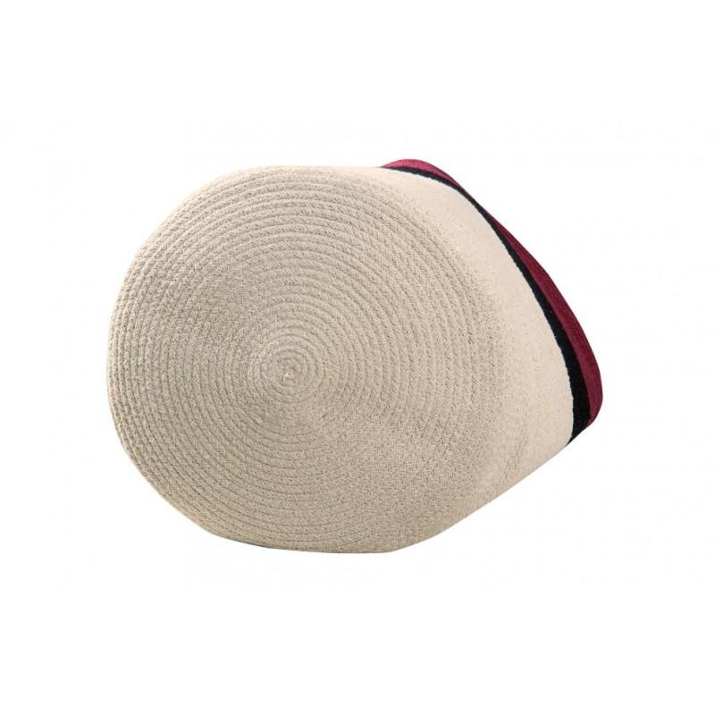Basket Braided Cotton Bazaar Aubergine 3