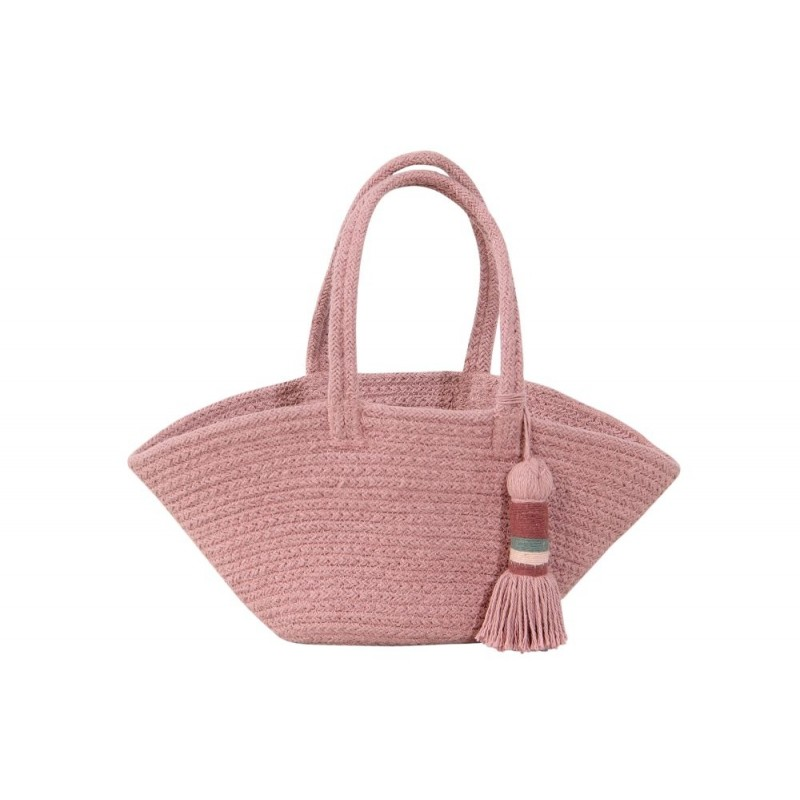 Lorena Canals. Καλάθι αποθήκευσης – τσάντα μίνι Ash Rose 15Χ33Χ10