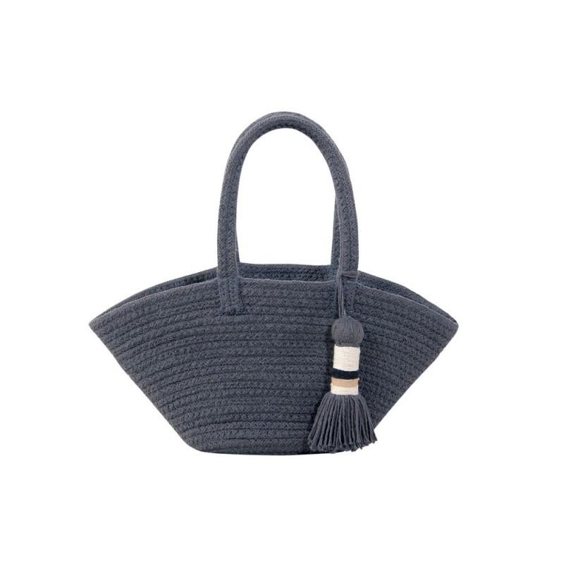 Lorena Canals. Καλάθι αποθήκευσης – τσάντα Cistell Dark Grey 35Χ65Χ18