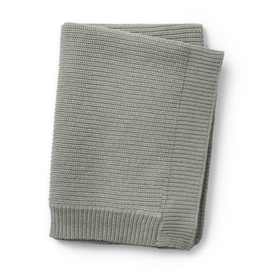 ELODIE DETAILS Κουβέρτα Elodie Details Wool Knitted Mineral Green