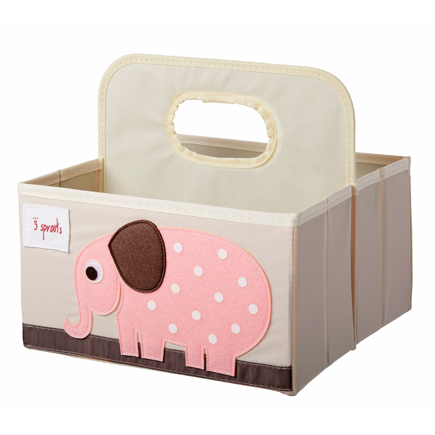 3 Sprouts Elephant Diaper And Cosmetics Caddy
