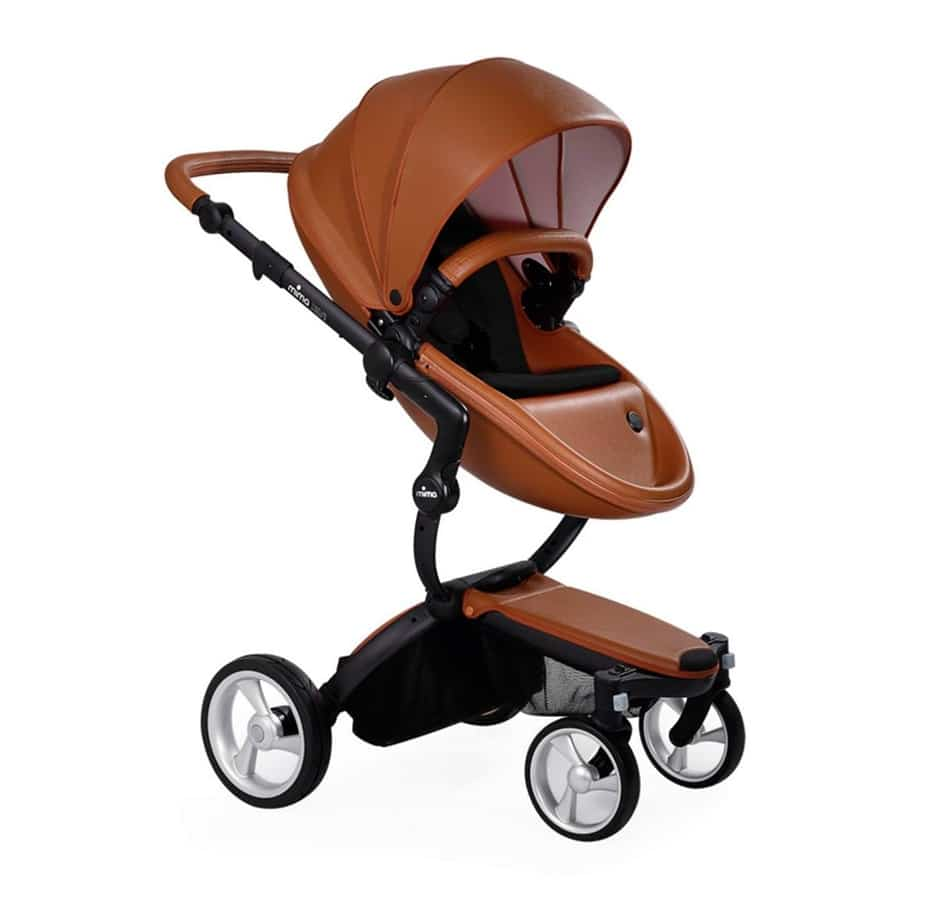 Mima Xari Stroller Camel Seat – Black Chassis – Black Cushion