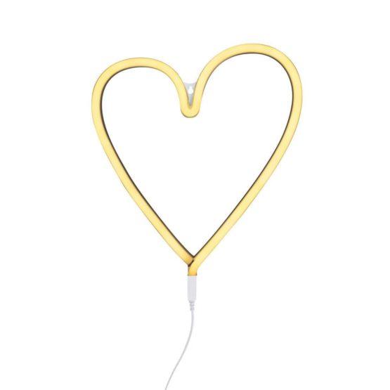 """A little lovely company Φωτιστικό Neon """"Heart"""" Κίτρινο"""