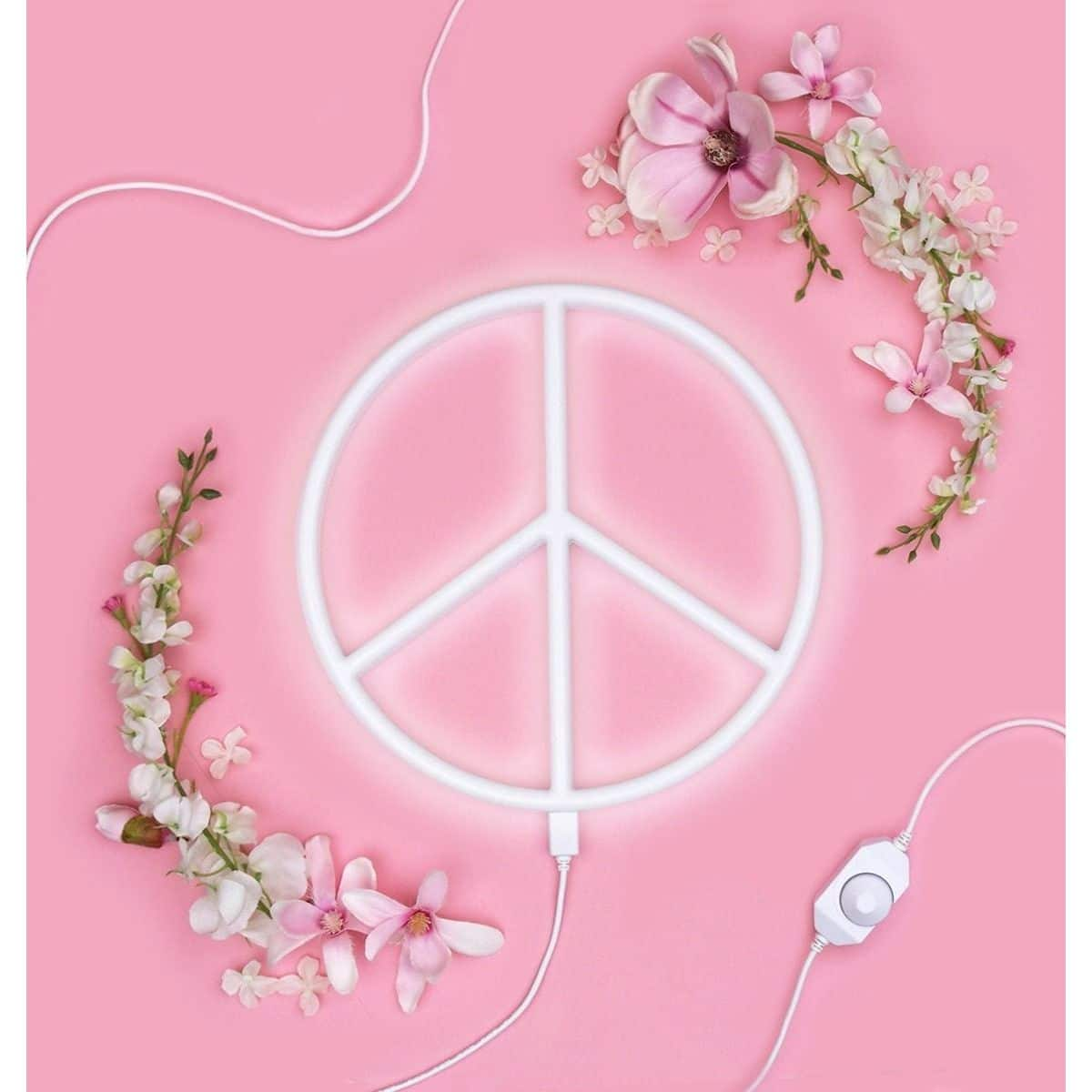 Nepewh Lr 5 Neon Style Light Peace White 3