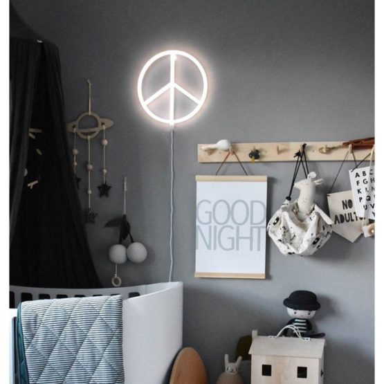 Nepewh Lr 7 Neon Style Light Peace White
