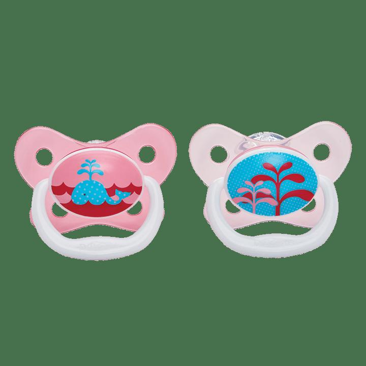 Dr Brown's Πιπίλες πεταλούδα PreVent 0-6 Μηνών Ροζ (2 Τεμ.)