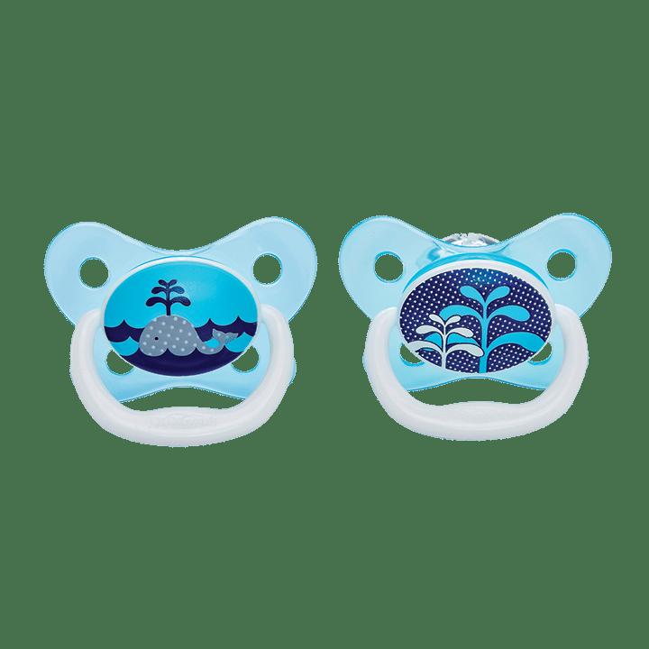 Dr Brown's Πιπίλες πεταλούδα PreVent 0-6 Μηνών Μπλε (2 Τεμ.)