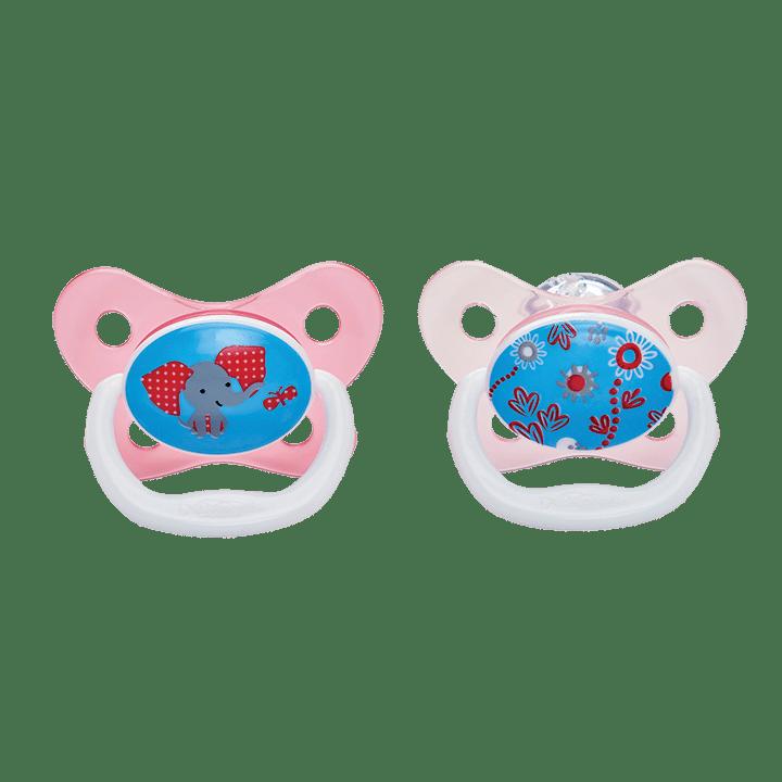 Dr Brown's Πιπίλες πεταλούδα PreVent 6-18 Μηνών Ροζ (2 Τεμ.)
