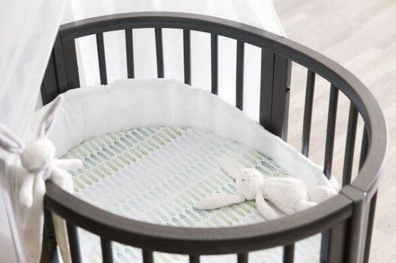 Stokke Sleepi Mini Hazy Grey Fitted Sheet Coral Straw 160609 3 ECom