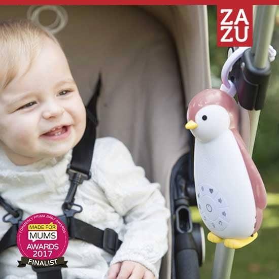Zazu – Zoe Πιγκουίνος Ροζ με Bluetooth/Φωτάκι/Χτύπο καρδιάς
